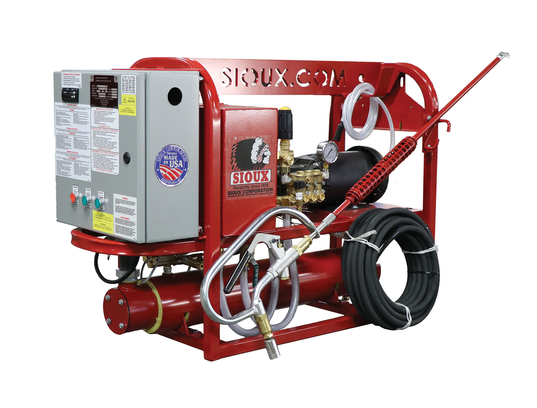 E2.4HS1200 Pressure Washer with Steam Gun