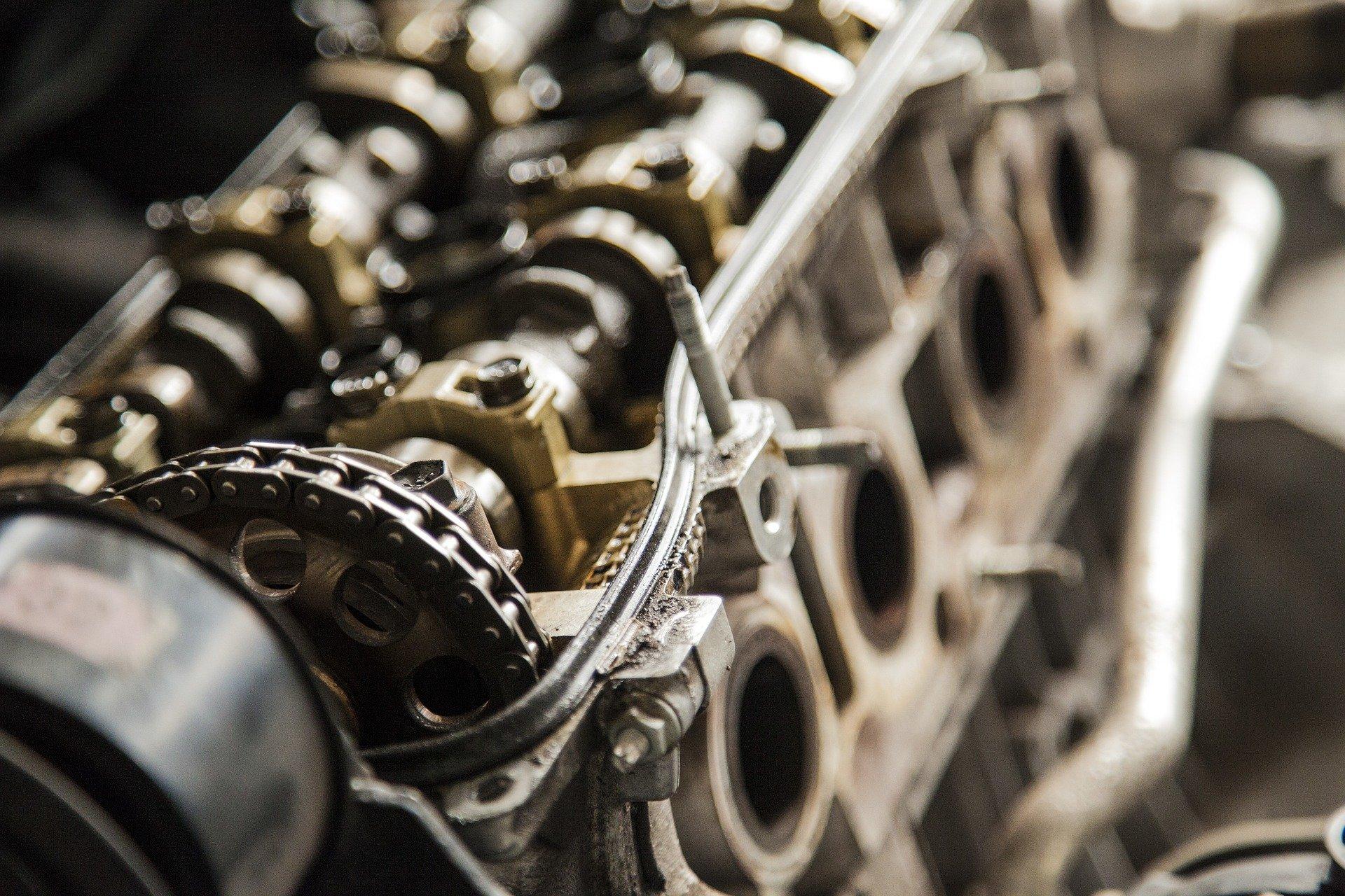 Close up of a motor